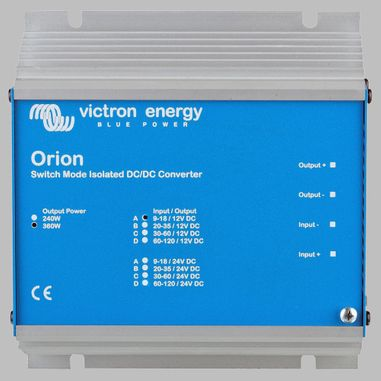 DC-DC converter 12V to 12V, 30 Ampere, galvanic isolation, ORION