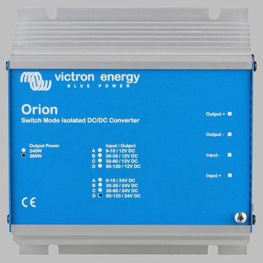 DC-DC converter 60V - 120V to 24V, 15 Ampere, galvanic isolation, ORION