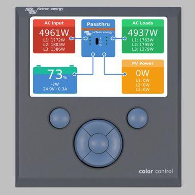 Color Control GX zur Anzeige und Konfiguation von Victron Geräten (MultiPlus, Quattro, Batteriecomputer VBC, Tankanzeige VTM)