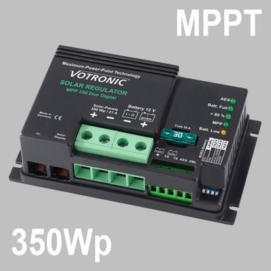 MPPT Solar charge controller 25A for 12V Battery Systems, max. PV voltage 50V, Duo Digital