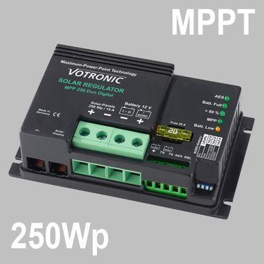 MPPT Solarladeregler 18A für 12V Batterien, max. Eingang 50V DC, Duo Digital, 250Wp