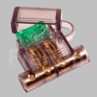 Blade Fuse holder for  ATO / ATC fuses with 19mm width, screw version, max. 30A