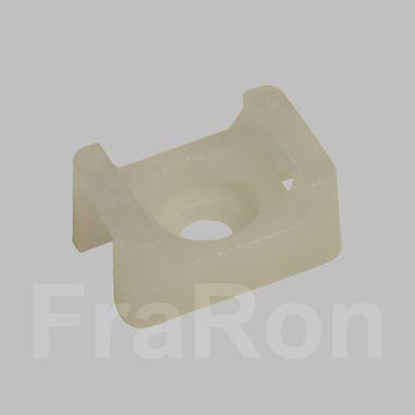 Kabelbinder-Befestigungselement mit Schraubsockel, 15x10mm, Kabelbinderbreite max. 5mm