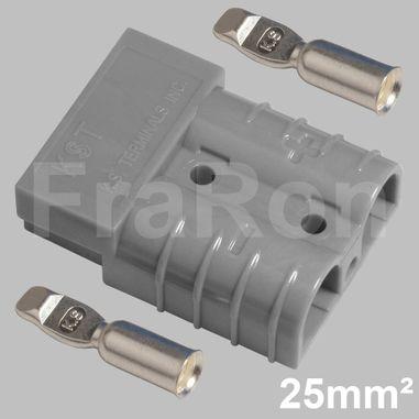 Hochstromsteckverbinder 120A, 2polig inkl. Crimpkontakte bis 25mm² / AWG4