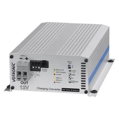 Batterie zu Batterie-Ladegerät 24V nach 12V mit 45A, IUoU, Ladebooster VCC für Blei,- GEL, AGM und Lithiumbatterien, mit galvanischer Trennung