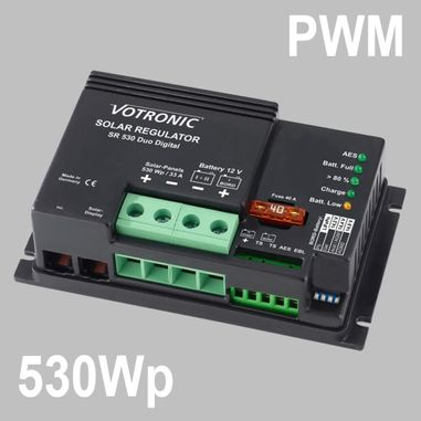 PWM Solar charge controller 33A for 12V Battery Systems, max. PV voltage 28V, Duo Digital