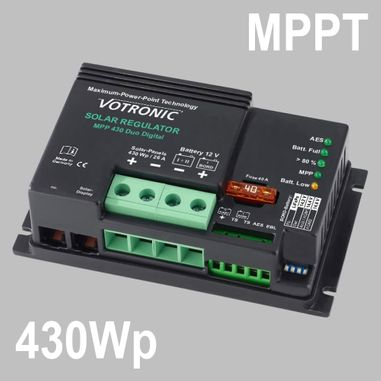 MPPT Solar charge controller 32A for 12V Battery Systems, max. PV voltage 50V, Duo Digital