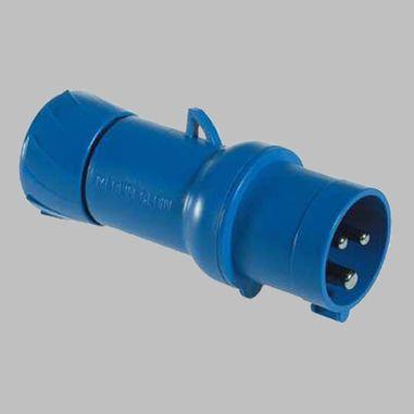 CEE Plug, 3-poles, straight, blue, 16A