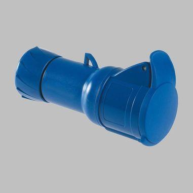 CEE Socket, 3-poles, straight, blue, 16A