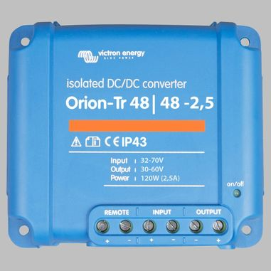 DC-DC converter 24V to 24V, 2,5 Ampere, galvanic isolation, as Battery charger useable, ORION-TR