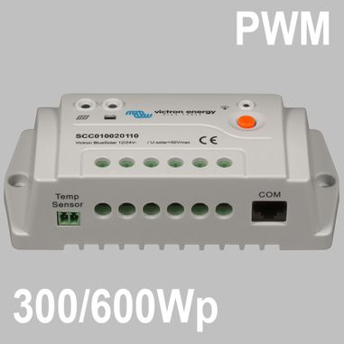PWM Solar charge controller 20A for 12/24V Batteries, optional remote display