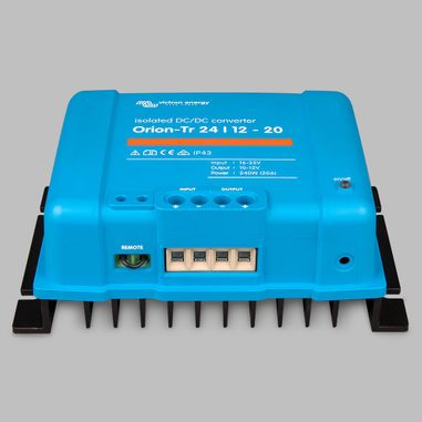 DC-DC converter 24V to 12V, 20 Ampere, galvanic isolation, as Battery charger useable, ORION-TR