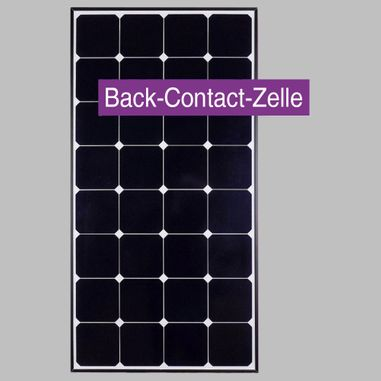 100Wp SunPower Solar panel, Back-Contact Panel with 20% Cell Efficency