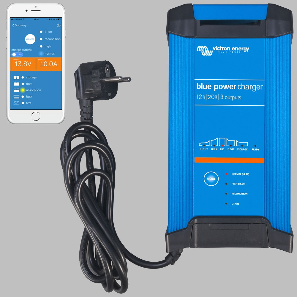 Iuou Automatic Battery Charger 12v 20a 3 Outputs Blue Power Gx Details About 12 Volt Circuit Solar Panel Rv Kit Ip22 Smart