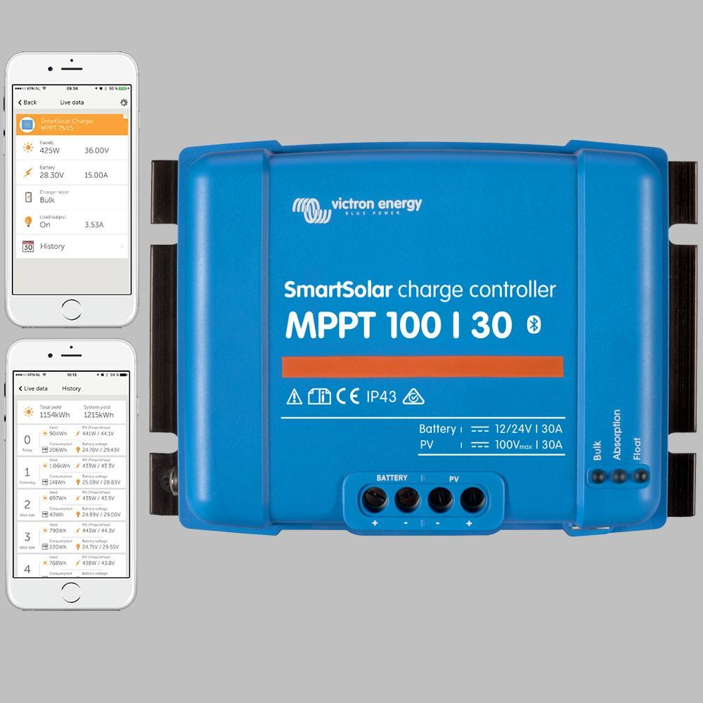 Mppt Solar Charge Controller 30a For 12v 24v Battery