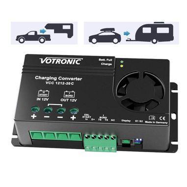 Batterie zu Batterie-Ladegerät 12V nach 12V mit 20A, IUoU, Ladebooster VCC für Blei,- GEL, AGM und Lithiumbatterien