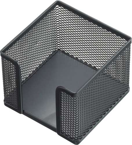 Zettelbox 'Mesh' in Schwarz, die moderne Ablage für ca. 700 Notizzettel 9 x 9 cm