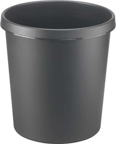 Helit Papierkorb in Schwarz, 18 Liter
