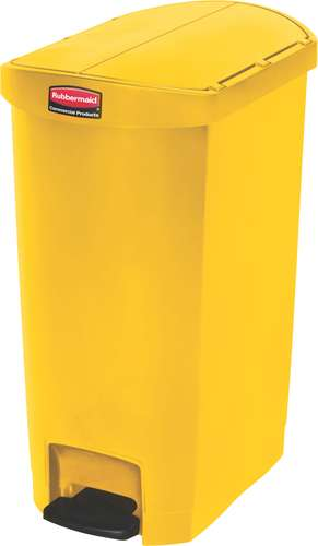 Rubbermaid Slim Jim Step On Container, End Step, 50 Liter