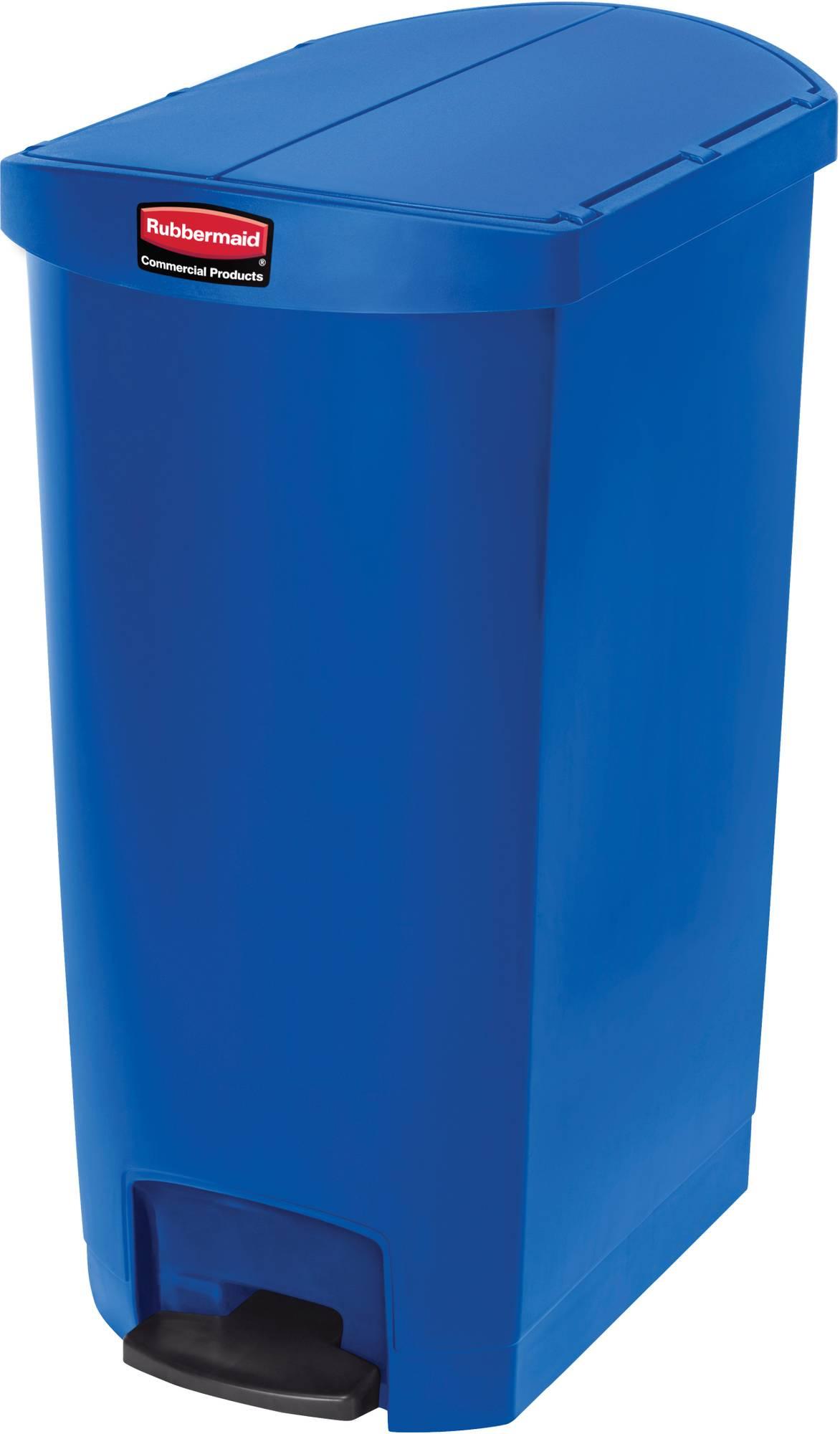 Rubbermaid Slim Jim Step On Container, End Step mit 68 Liter Füllmenge in Blau