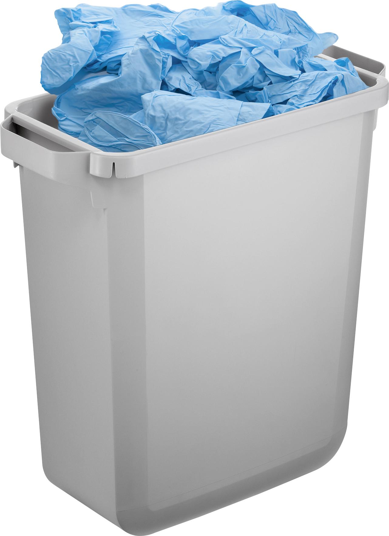 Durabin Abfallbehälter mit 60 l Fassungsvermögen, mit Bsp. Abfallbefüllung