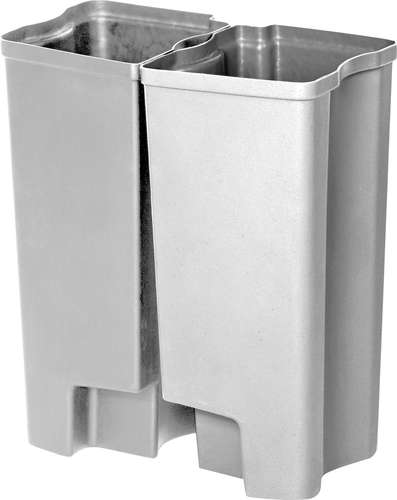 Recycling Inneneimer Rubbermaid End Step Edelstahl, 2 x 45 Liter