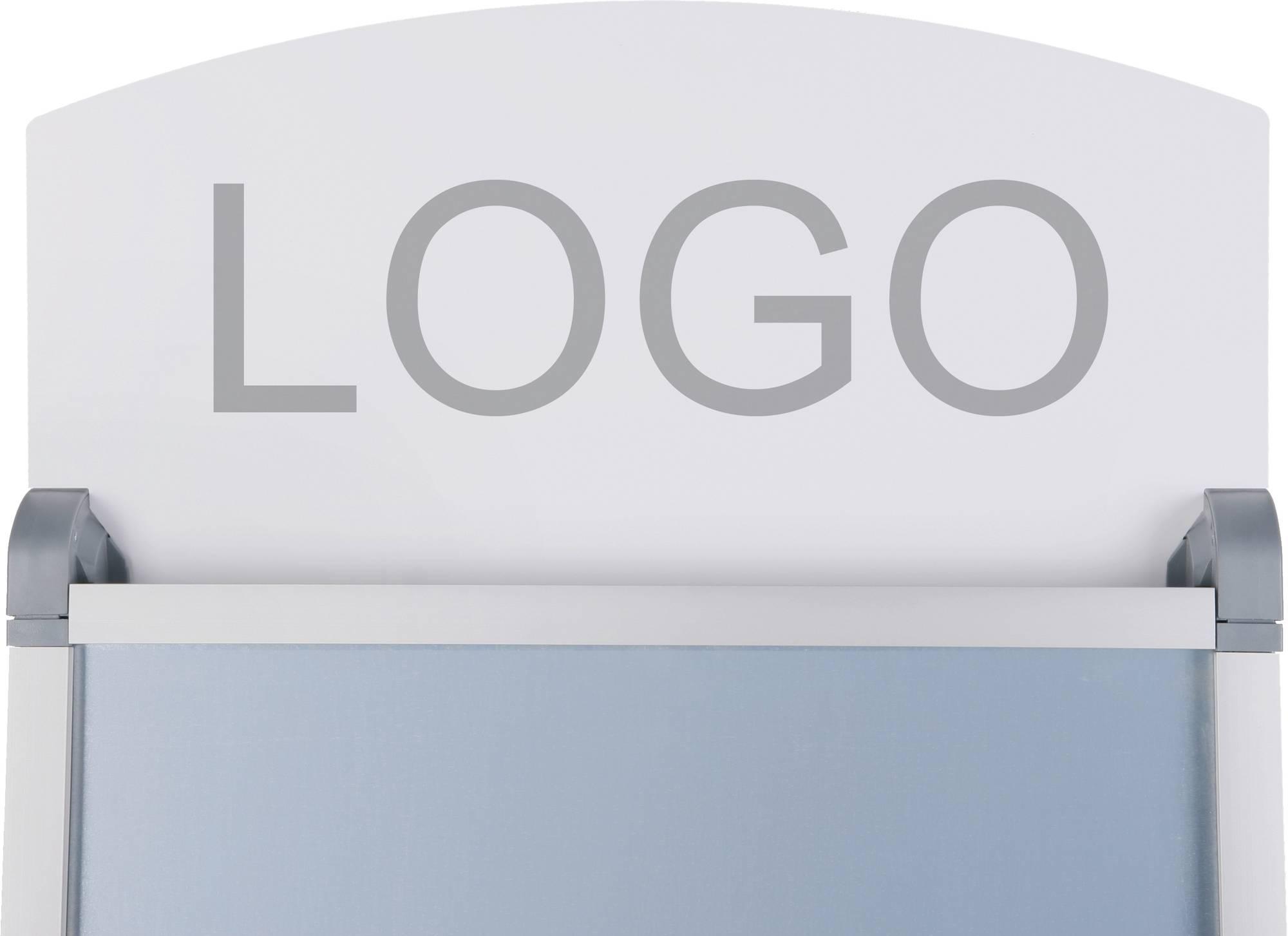 Aufsatzschild für B-1396 Kundenstopper 'Safety' A1 in weiß für ein Logo