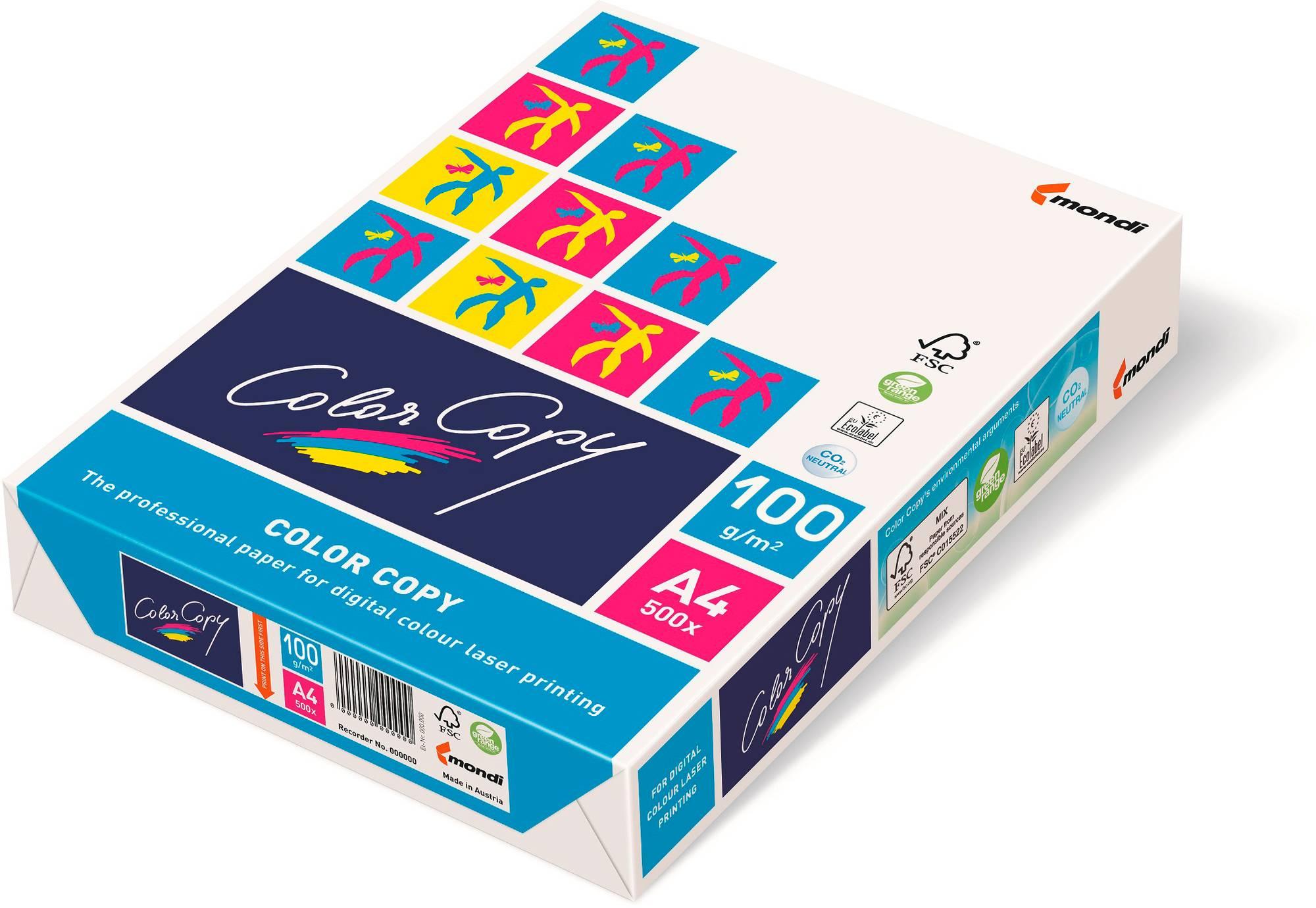 Kopier-/Druckerpapier Mondi Color-Copy weiß DIN A4, 100 g/qm 500 Blatt, beidseitig bedruckbar