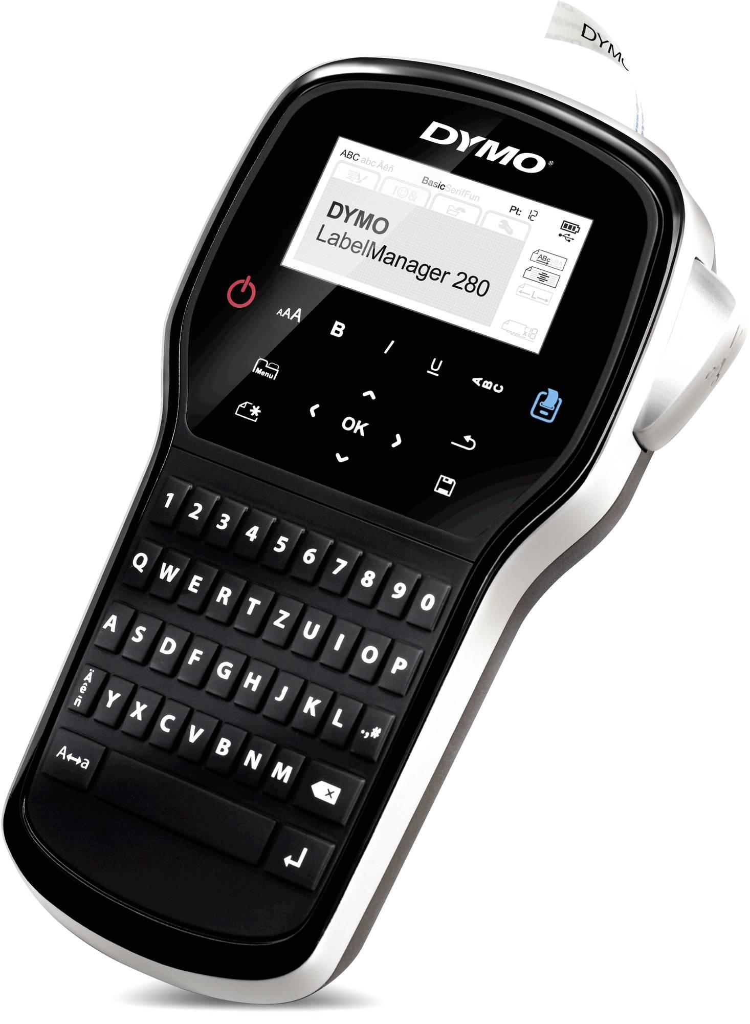 """""""Dymo Label Manager 280"""" handlicher Etikettendrucker mit computerähnlicher QWERTZ Tastatur"""