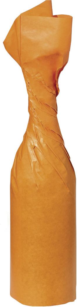Flaschenseide in der Farbe orange, zum Einwickeln von z.B. Flaschen 375 x 500 mm