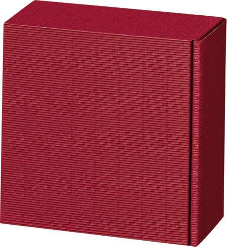 Bordeaux-farbener Präsentkarton 'Vario 2', 20 x 10 x 20 cm
