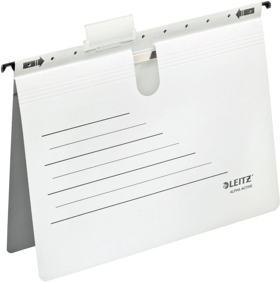 Ordnen, archivieren und schnell wiederfinden, Hängehefter in der Farbe weiß aus Karton