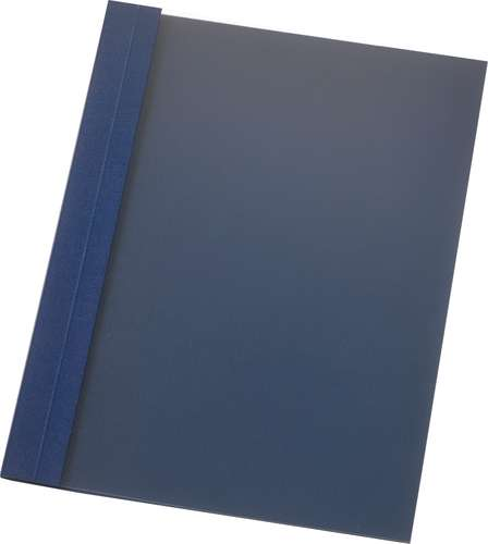 Nachtblaue Ös-Mappe aus Leinen-Strukturkarton, transparent, 4 mm