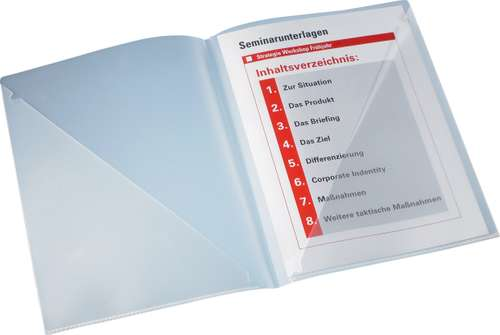 Matt-transparente Einsteckmappe in A4, Polypropylen