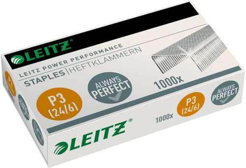 Leitz Heftklammern 24/6 Stahl, bis 30 Blatt