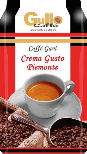 Italienische Kaffee-Spezialität Gullo Kaffee Caffé Gavi 10001, ganze Bohne, 1.000 g