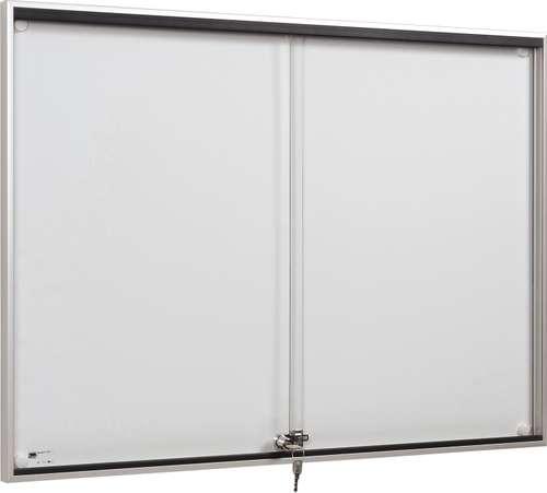 Schiebetür-Schaukasten, 18 x A4, Brandschutz zertifiziert, B1