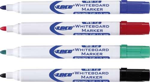 Laco Whiteboard-Marker WB-12 blau, schwarz, rot, grün
