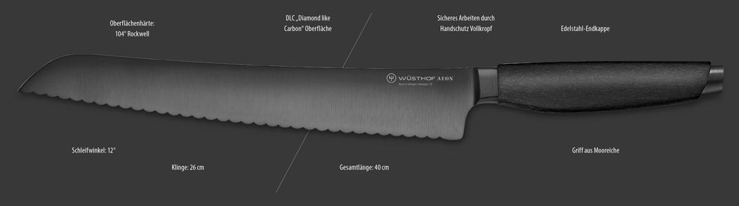 Brotmesser der Serie AEON von Wüsthof Dreizack Solingen