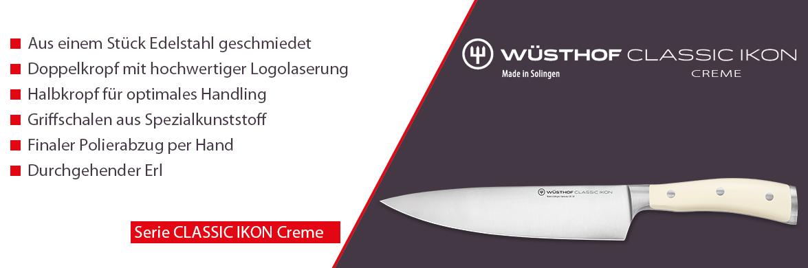 Serie Wüsthof CLASSIC IKON CREME, der Klassiker unter den Küchenmesser