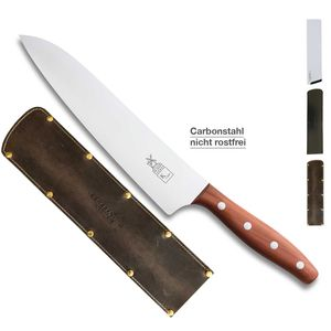 Herder K-Serie Kochmesser K-Chef Pflaume CARBON + SCHARFsinnig Klingenschutz – Bild 5