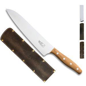 Herder K-Serie Kochmesser 23 cm K-Chef Marille + SCHARFsinnig Klingenschutz – Bild 5