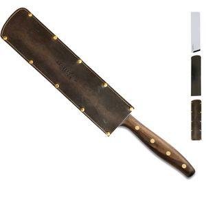 Windmühlenmesser Kochmesser 23 cm K-Chef Walnuss + SCHARFsinnig Klingenschutz – Bild 6