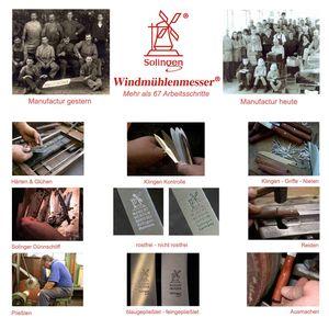 Windmühlenmesser Kochmesser 18,2 cm K-5 POM Messing + SCHARFsinnig Klingenschutz – Bild 8