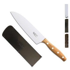 Herder K-Serie Kochmesser 18,2 cm K-5 Marille + SCHARFsinnig Klingenschutz – Bild 3