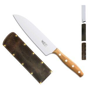 Herder K-Serie Kochmesser 18,2 cm K-5 Marille + SCHARFsinnig Klingenschutz – Bild 5