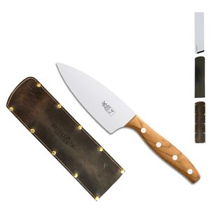 Herder K-Serie Kochmesser klein 13 cm K-4 Marille + SCHARFsinnig Klingenschutz – Bild 5