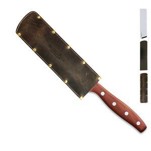 Windmühlenmesser Kochmesser klein 13 cm K-4 Pflaume + SCHARFsinnig Klingenschutz – Bild 6
