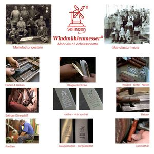 Windmühlenmesser Allzweckmesser 11 cm K-2 Pflaume + SCHARFsinnig Klingenschutz – Bild 8