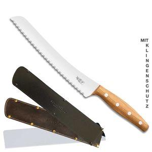 Windmühlenmesser Brotmesser BEIDHÄNDER K-B2 Marille + SCHARFsinnig Klingenschutz – Bild 9